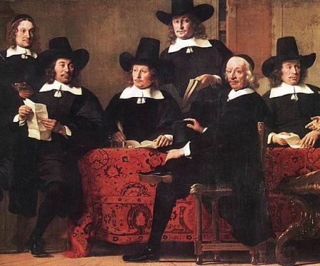 Governors of the Wine Merchant's Guild of Amsterdam, by Ferdinand Bol (1663)
